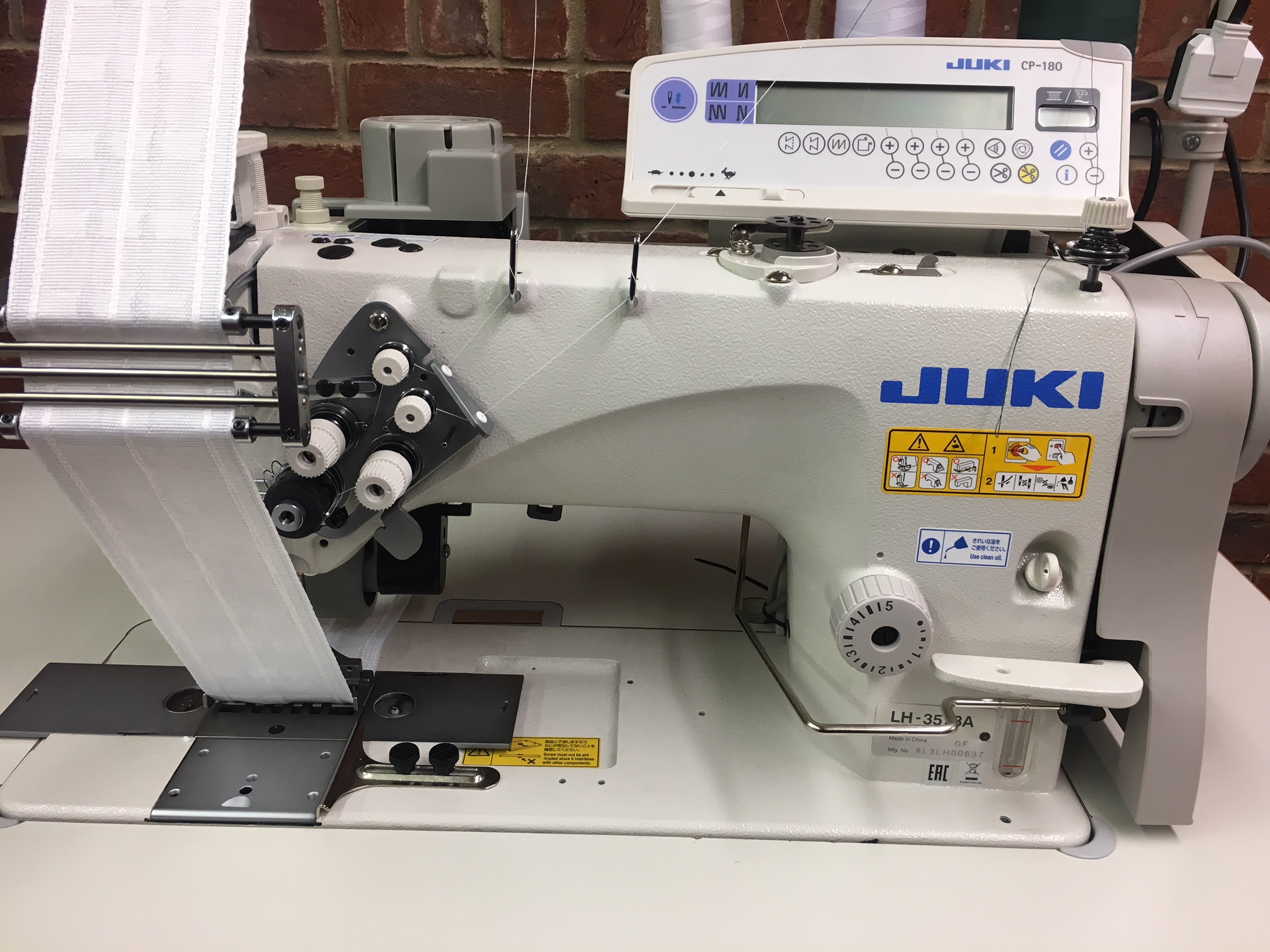 Juki LH-3578A 65mm for attaching curtain header tape